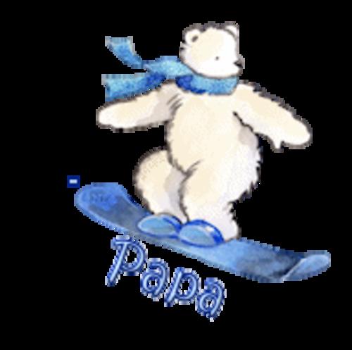 Papa - SnowboardingPolarBear