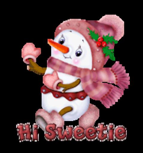 Hi Sweetie - CuteSnowman
