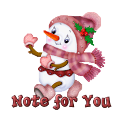 Note for You - CuteSnowman