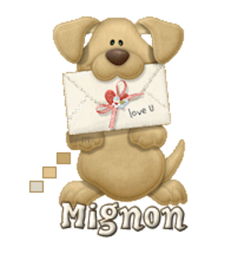 Mignon - PuppyLoveULetter