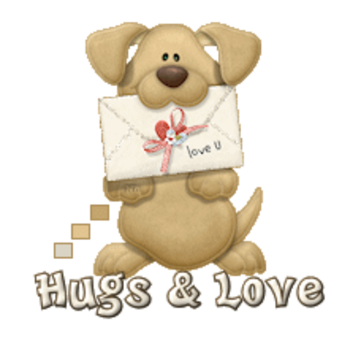 Hugs & Love - PuppyLoveULetter