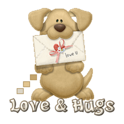 Love & Hugs - PuppyLoveULetter