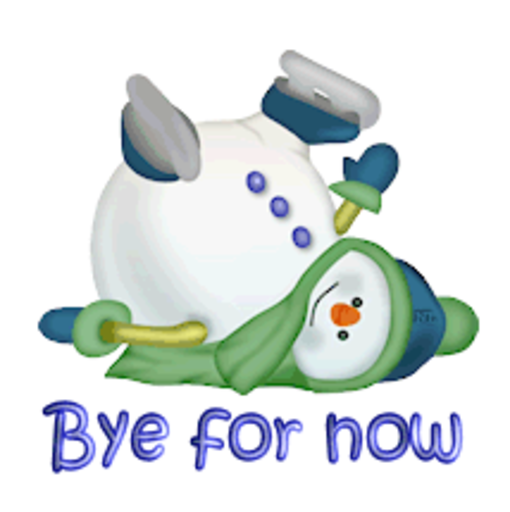 Bye for now - CuteSnowman1318