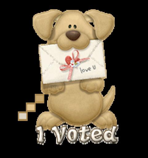 I Voted - PuppyLoveULetter