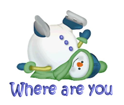 Where are you - CuteSnowman1318