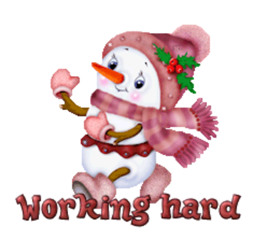 Working hard - CuteSnowman