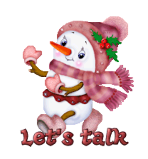Let's talk - CuteSnowman