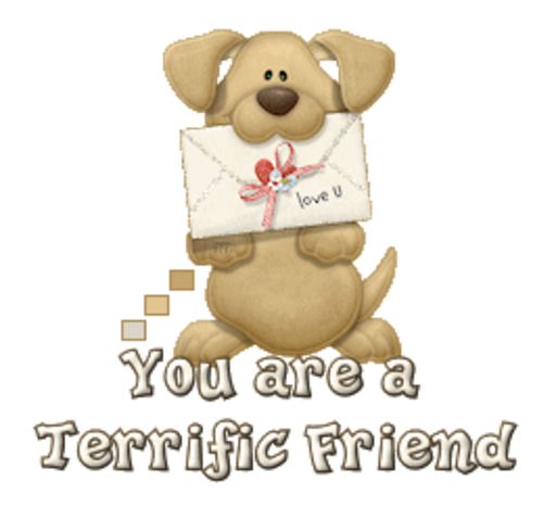 You are a Terrific Friend - PuppyLoveULetter