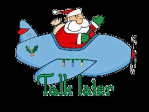 Talk later - SantaPlane