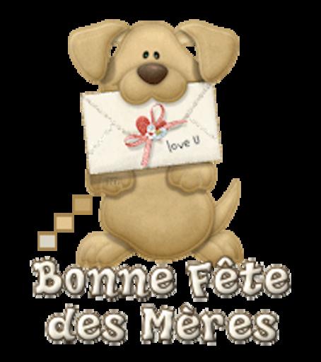 Bonne Fete des Meres - PuppyLoveULetter
