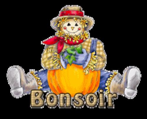 Bonsoir - AutumnScarecrowSitting
