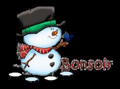 Bonsoir - Snowman&Bird