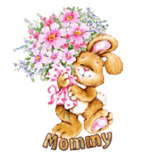 Mommy - BunnyWithFlowers
