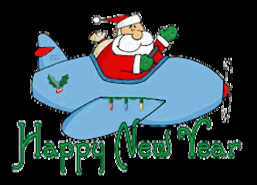 Happy New Year - SantaPlane