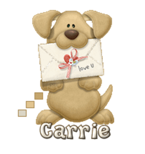 Carrie - PuppyLoveULetter
