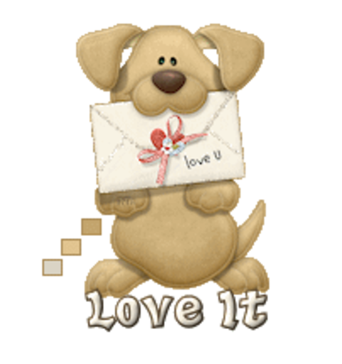 Love It - PuppyLoveULetter