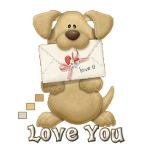 Love You - PuppyLoveULetter