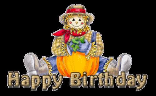 Happy Birthday - AutumnScarecrowSitting