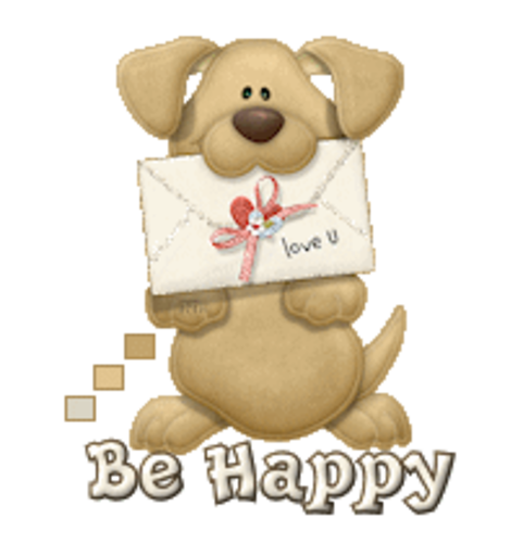 Be Happy - PuppyLoveULetter