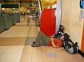 Troy Sleeping at Kuala Lumpor Airport for Long Layover at night