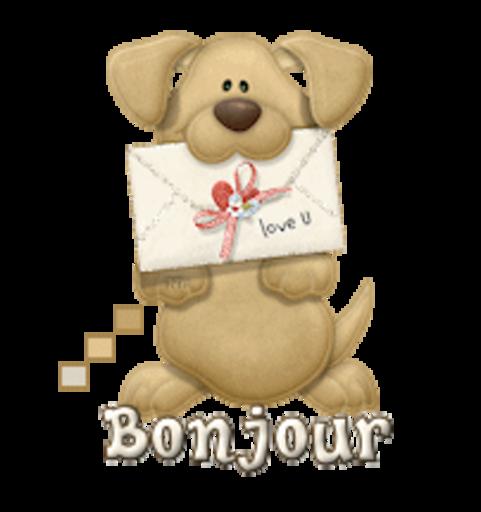Bonjour - PuppyLoveULetter