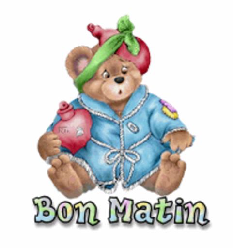 Bon Matin - BearGetWellSoon
