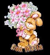 Bon Matin - BunnyWithFlowers