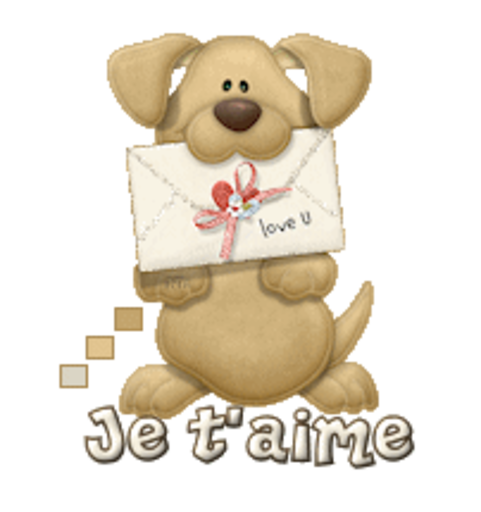Je t'aime - PuppyLoveULetter