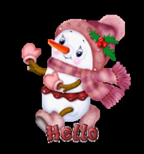 Hello - CuteSnowman