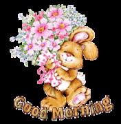 Good Morning - BunnyWithFlowers