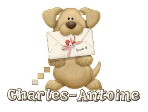 Charles-Antoine - PuppyLoveULetter