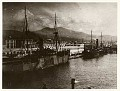 Battleships in the harbour