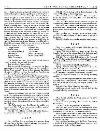 STONINGTON CHRONOLOGY - PAGE 014