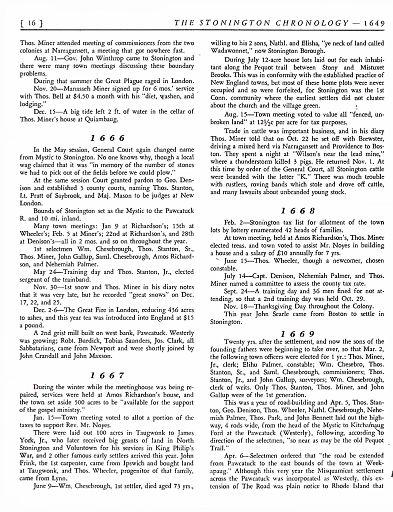 STONINGTON CHRONOLOGY - PAGE 016