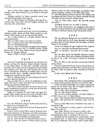 STONINGTON CHRONOLOGY - PAGE 024