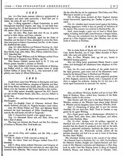 STONINGTON CHRONOLOGY - PAGE 025