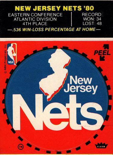 1980-81 Fleer NBA Logo Stickers New Jersey Nets (1)