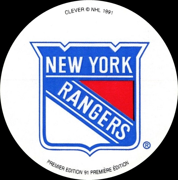 1991-92 Clever Logo Stickers New York Rangers (1)