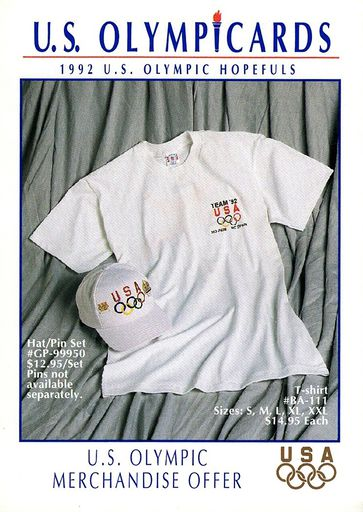 1992 US Olympicards Memorabilia Offer (1)