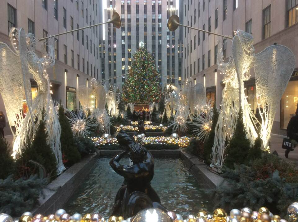 walked over to Rockefeller Center