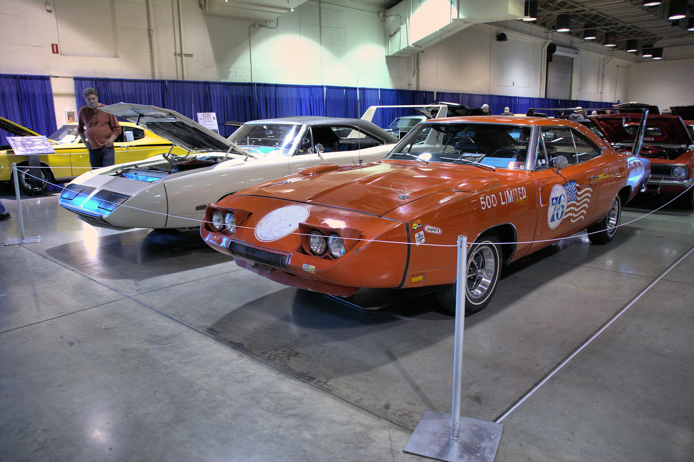 1970 Dodge Daytona and 1970 Plymouth Superbird on display at 2017 GNRS DSC 4881 -1