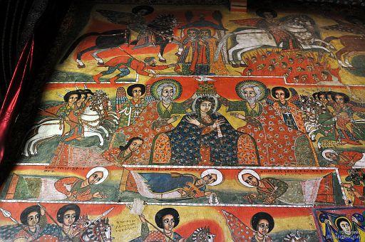 Ikonografia przedstawia chrystianizację Etiopii i ... fundatorów