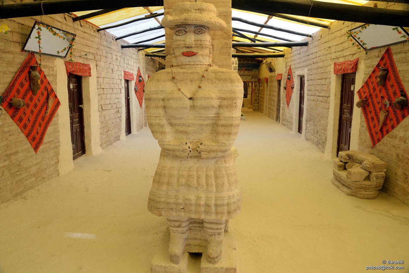 Rzeźba wewnątrz budynku - wszystko z soli