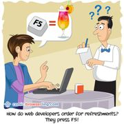 Refreshments - Weekly comic about web developers, software and browsers