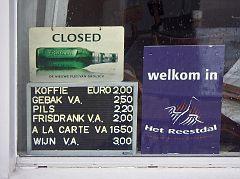 Closed - Nix Koffie met Appelgebak! :-(