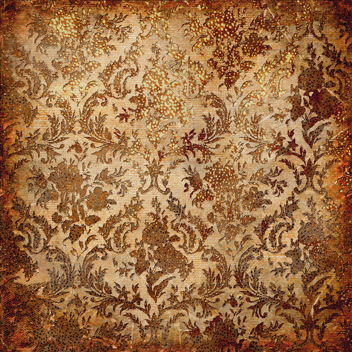 vintage grunge background with golden patterns
