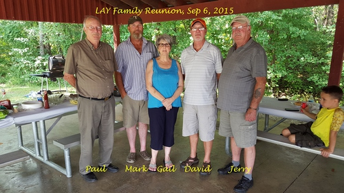 2015 Lay Family Reunion