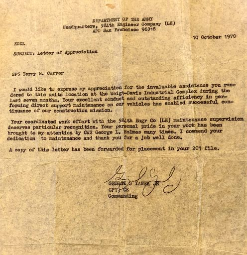 21-Letter of Appreciation