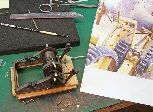 Fabricating the brake spring hanger.